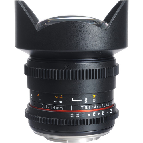 Bower 14mm T3.1 Super Wide-Angle Cine Lens For Olympus 4/3 Mount Cameras