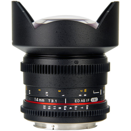 Bower 14mm T3.1 Super Wide-Angle Cine Lens For Sony Alpha Mount Cameras