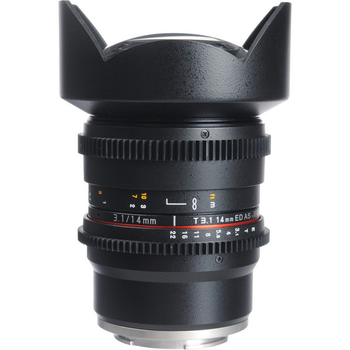 Bower 14mm T3.1 Super Wide-Angle Cine Lens For Sony E Mount Cameras