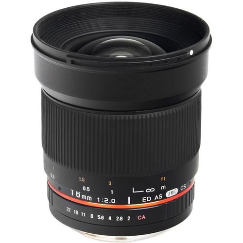 Bower 16mm f/2.0 ED AS UMC CS Lens for Fujifilm X Mount