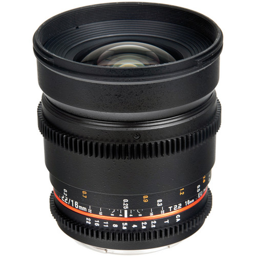 Bower 16mm T2.2 Cine Lens for Fujifilm X Mount