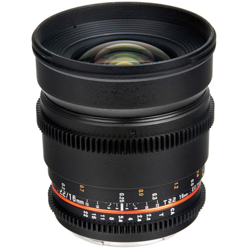 Bower 16mm T2.2 Cine Lens for Nikon F Mount