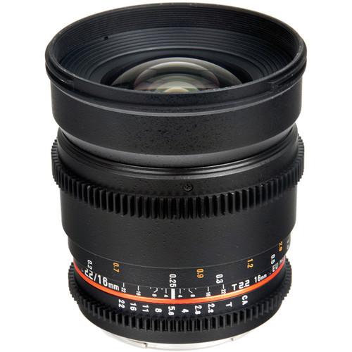 Bower 16mm T2.2 Cine Lens for Pentax K Mount