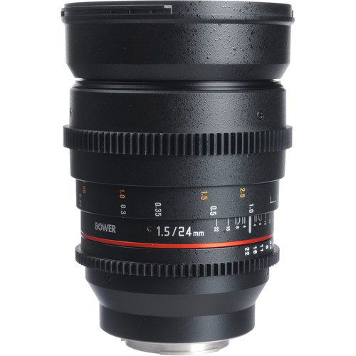 Bower 24mm T1.5 Ultra-Fast Wide-Angle Cine Lens For Samsung NX Mount Cameras