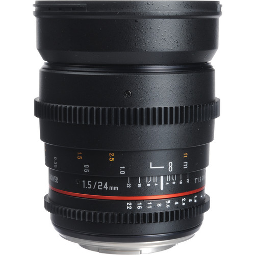 Bower 24mm T1.5 Ultra-Fast Wide-Angle Cine Lens For Olympus 4/3 Mount Cameras