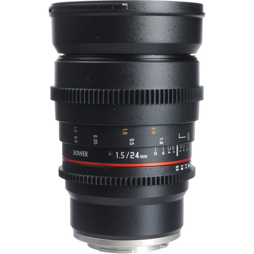 Bower 24mm T1.5 Ultra-Fast Wide-Angle Cine Lens For Sony E Mount Cameras