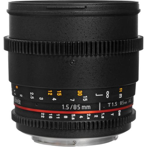 Bower 85mm T1.5 Cine Lens for Canon EF
