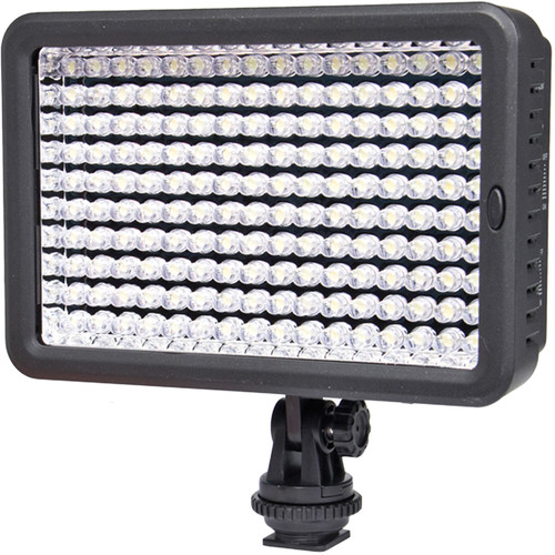 Bower 160-Bulb Bicolor LED Video Light with Two NP-FV Batteries