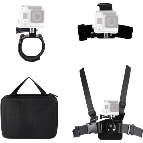 Bower Xtreme Action Series 4-in-1 Action Mount Bundle for GoPro