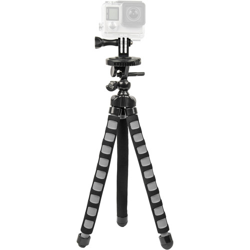 Bower Xtreme Action Series Flex Tripod for GoPro (Black/Gray)