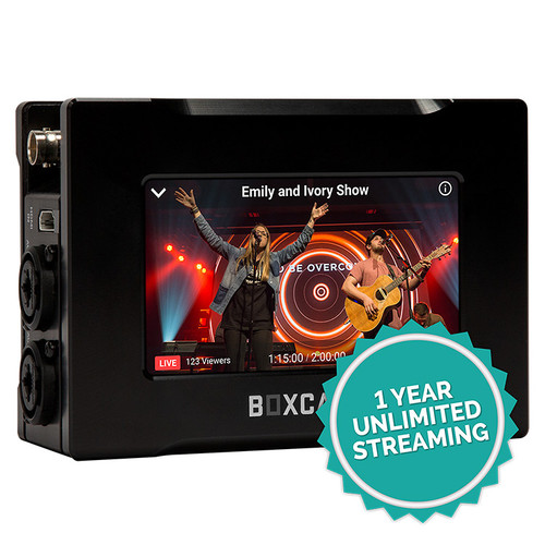 BoxCast BoxCaster Pro 4K Live Video Streaming Encoder with 1-Year Subscription