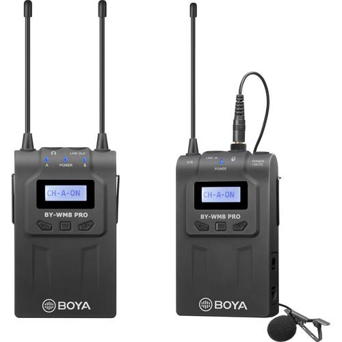 BOYA UHF Wireless Omni Lav Microphone System with 100m Range