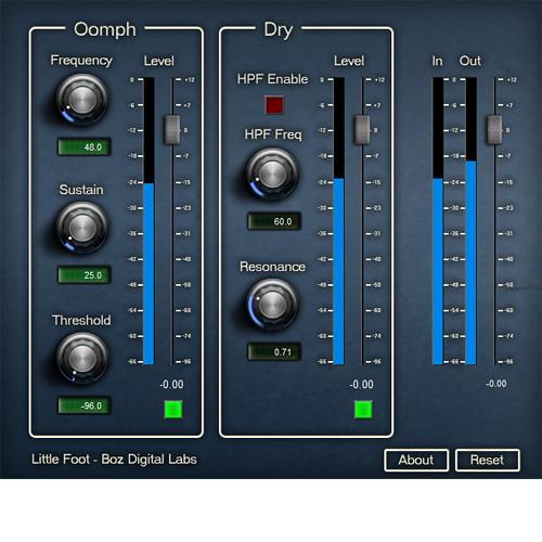 BOZ DIGITAL Little Foot - Kick Drum Low End Enhancement Plug-In (Download)