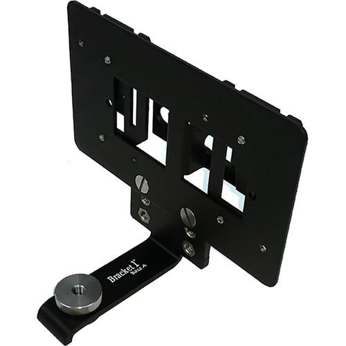 Bracket 1 VISLDRKLR Dual-Receiver Mounting Kit for Lectrosonics Wireless Receivers