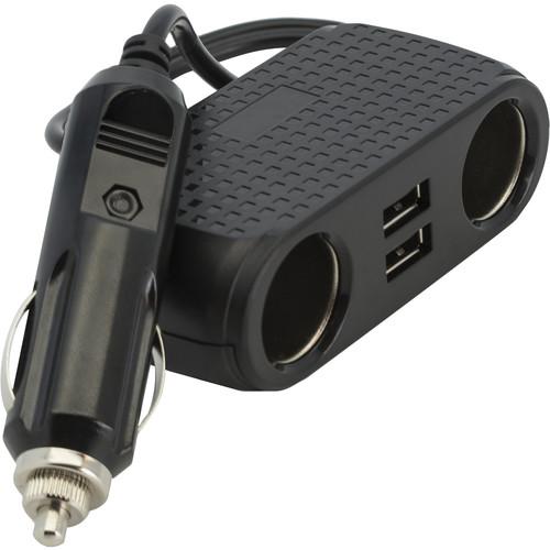 Bracketron DuoPort Dual 12V Socket/USB Adapter