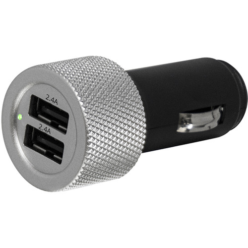 Bracketron Dual Turbo EZChargeBullet USB Dashboard Charger for Select Smartphones and Portable Devices