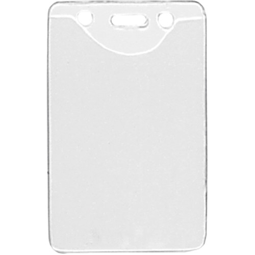 "BRADY PEOPLE ID Clear Vinyl Vertical Badge Holder with Slot and Chain Holes (2.3 x 3.38"", 100-Pack)"