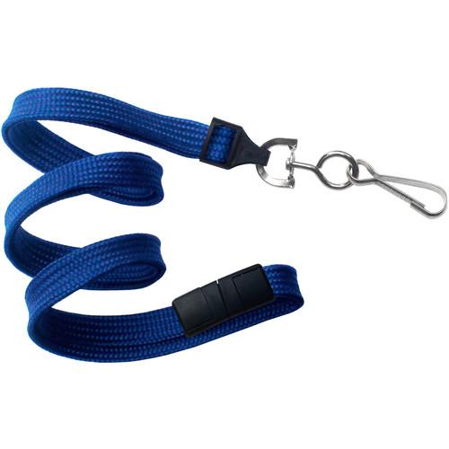 "BRADY PEOPLE ID 3/8"" Breakaway Lanyard with Universal Slide Adapter & Swivel Hook (Royal Blue, 100-Pack)"