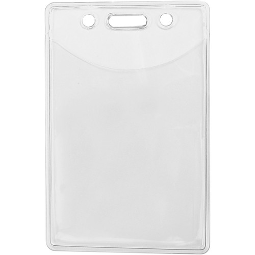 "BRADY PEOPLE ID Premium Vinyl Vertical Badge Holder with Slot and Chain Holes (2.38 x 3.38"", 100-Pack)"