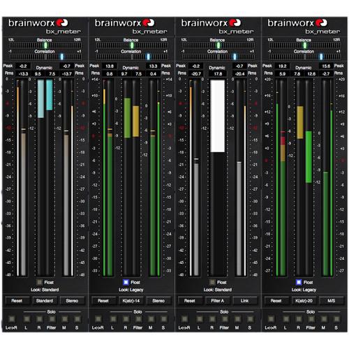 Brainworx Bx_Meter Dynamic Range Meter W/M/S Modes