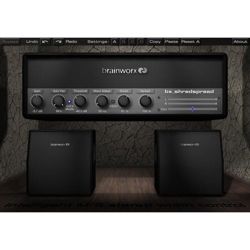 Brainworx Bx_Shredspread M/S Stereo Width & EQ for Guitars & Keys
