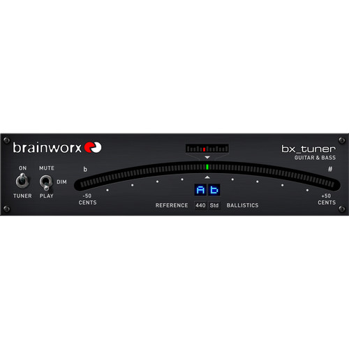 Brainworx bx_tuner Chromatic Tuner for Guitar and Bass Plug-In (Download)