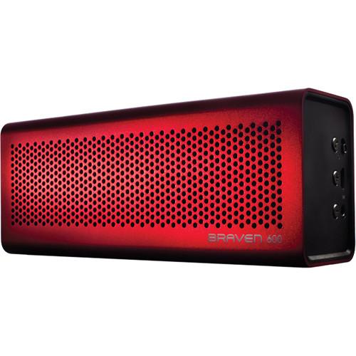 Braven 600 Bluetooth Wireless Speaker (Red)