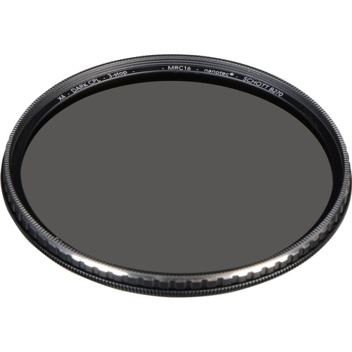 Breakthrough Photography 49mm X4 Dark 3-Stop Titanium Circular Polarizer Filter
