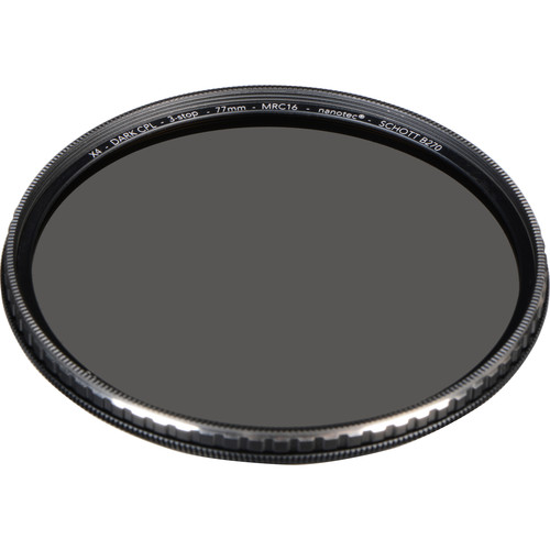 Breakthrough Photography 77mm X4 Dark 3-Stop Titanium Circular Polarizer Filter