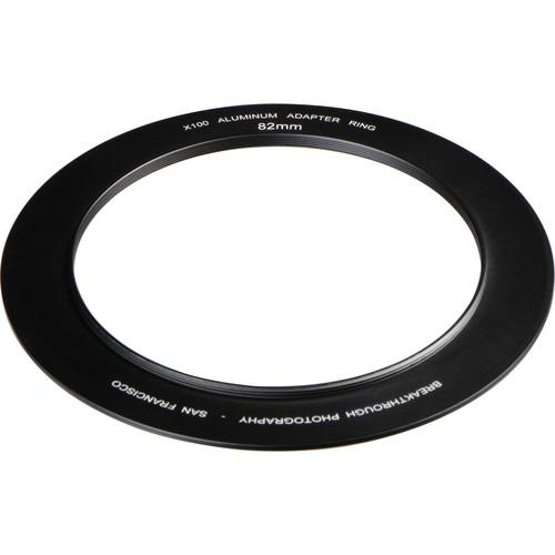 Breakthrough Photography 82mm Aluminum Adapter Ring for X100 Filter Holder