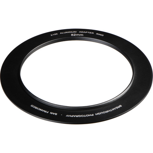 Breakthrough Photography 82mm Aluminum Adapter Ring for X100 Filter Holder