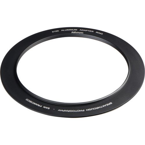 Breakthrough Photography 86mm Aluminum Adapter Ring for X100 Filter Holder