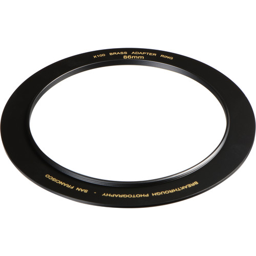 Breakthrough Photography 86mm Brass Adapter Ring for X100 Filter Holder