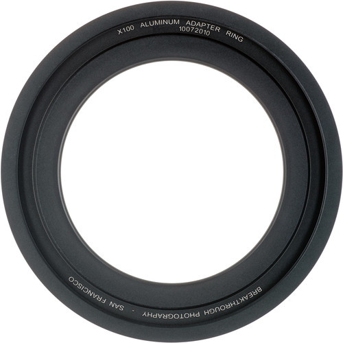 Breakthrough Photography 67mm Aluminum Adapter Ring for X100 Filter Holder