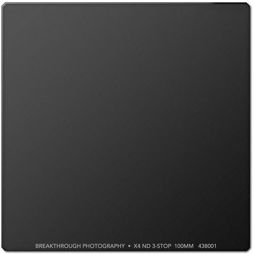 Breakthrough Photography 100 x 100mm X4 Solid Neutral Density 0.9 Filter (3 Stop)