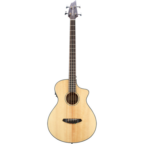 Breedlove Pursuit Concert CE Acoustic/Electric Bass Guitar (Sitka, Mahogany, Natural Gloss)
