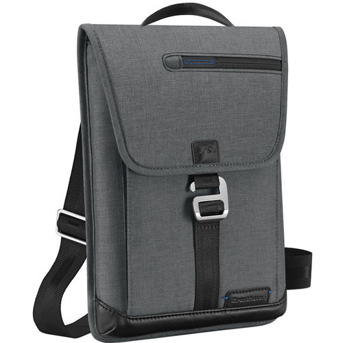 Brenthaven Collins Vertical Messenger Shoulder Bag (Charcoal)