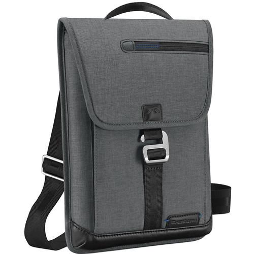 Brenthaven Collins Vertical Messenger Shoulder Bag (Charcoal)