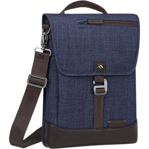 Brenthaven Collins Vertical Messenger Shoulder Bag (Indigo)