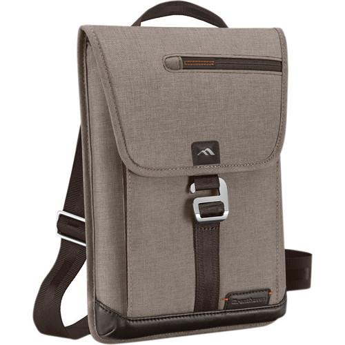 Brenthaven Collins Vertical Messenger Shoulder Bag (Tan)