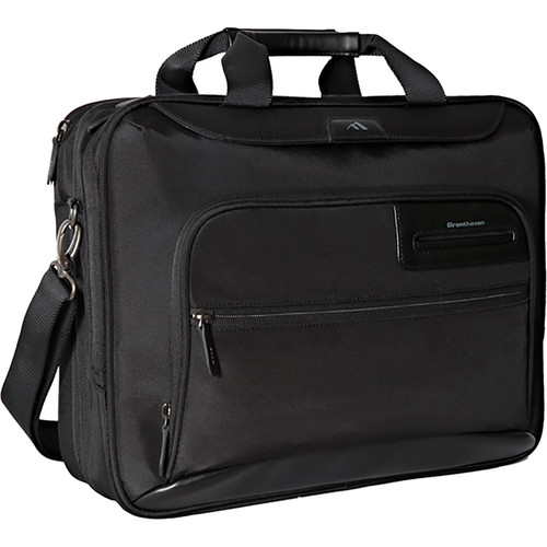 Brenthaven Elliot Deluxe Laptop and Tablet Brief (Black)