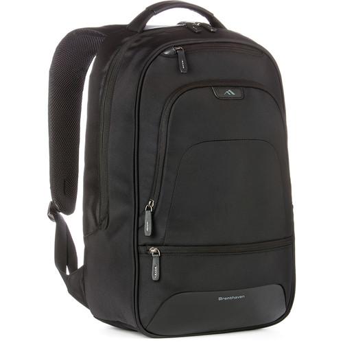 """Brenthaven Elliot Backpack for 15.4"""" Laptop (Black)"""