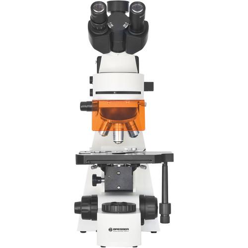 BRESSER Science ADL 601 F 40-1000x Fluorescent Microscope (110V, White)