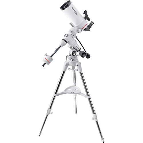 """BRESSER MC-100 Messier 4"""" f/14 Maksutov-Cassegrain Telescope with Exos-1 Manual EQ Mount and Tripod"""