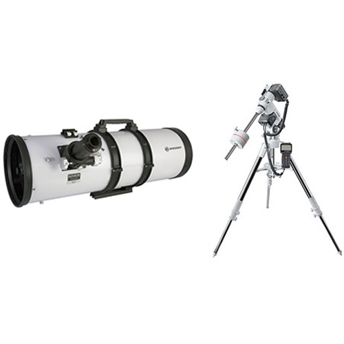 "BRESSER 8"" f/3.9 Reflector Telescope with Exos-2 GoTo Motorized Mount and Tripod"