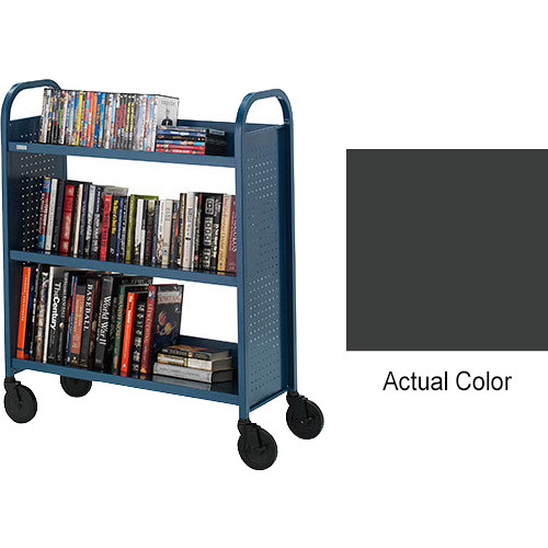 """Bretford Ups-Able 17"""" Wide Booktruck/ 5"""" Casters-Anthracite"""