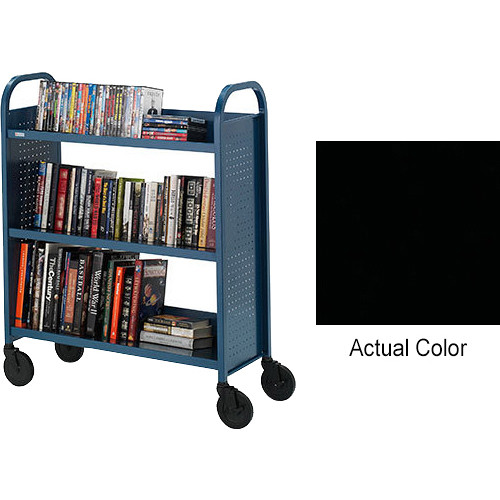 "Bretford Ups-Able 27"" Wide Booktruck/ 5"" Casters - Raven"