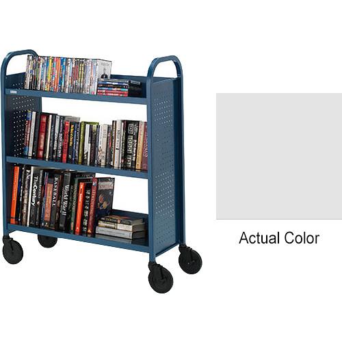 "Bretford Booktruck 3-Slant Shelves/ 5"" Casters - Aluminum"