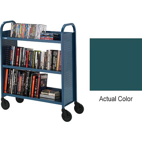 "Bretford Booktruck 3-Slant Shelves/ 5"" Casters - Polo"