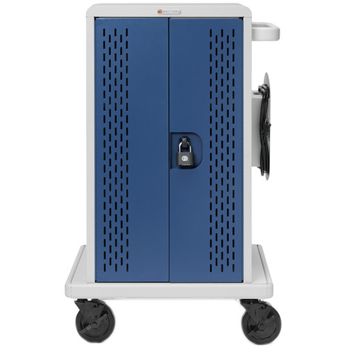 Bretford Core MS Charging Cart AC with Back Panel and 90° Outlets for Up to 24 Devices